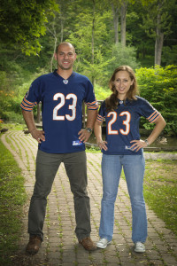 couple in NFL t shirt