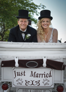 just-married-carriage
