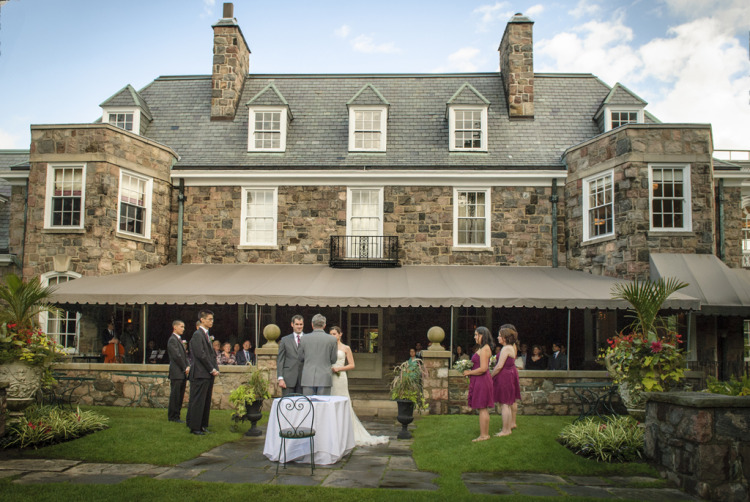 Outdoors Wedding-McLean House