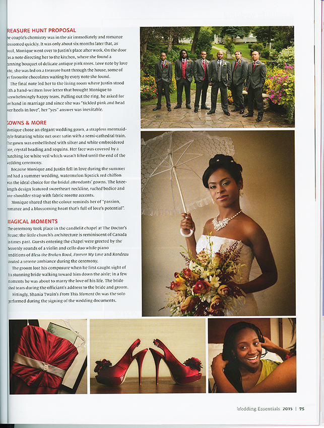 scan of Wedding Essential Magazine page 75